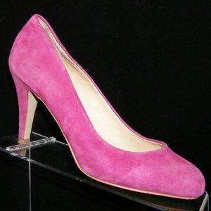 ALDO purple suede almond toe pump heels 7.5 EU 38